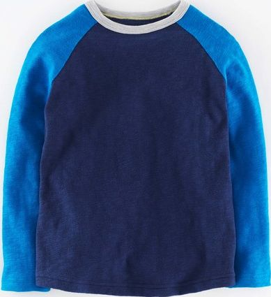 Mini Boden, 1669[^]34961284 Colourblock Raglan T-shirt Navy/Cobalt Mini