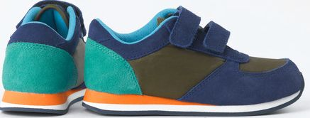 Mini Boden, 1669[^]34923854 Colourblock Trainers Navy/Dark Khaki Mini Boden,