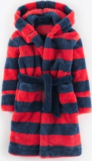 Mini Boden, 1669[^]34943092 Cosy Dressing Gown Flame/Storm Stripe Mini