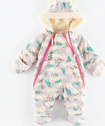 Mini Boden, 1669[^]34975417 Cosy Zip-up All-in-one Grey Country Hare/Blush