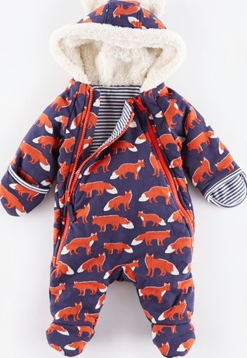 Mini Boden, 1669[^]34975334 Cosy Zip-up All-in-one Utility Blue Fox/Blue