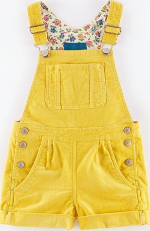Mini Boden, 1669[^]35165893 Dungaree Shorts Honey Cord Mini Boden, Honey