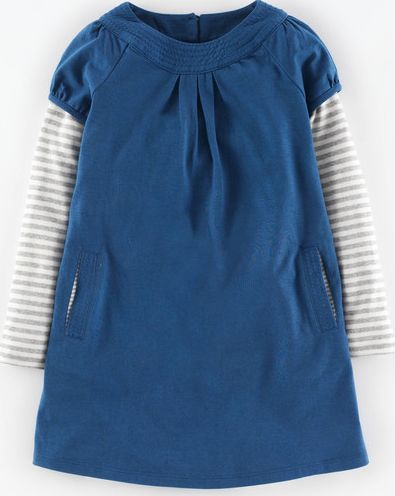 Mini Boden, 1669[^]34910935 Easy Jersey Dress Coastal Blue Mini Boden,
