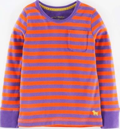 Mini Boden, 1669[^]34938035 Everyday T-shirt Amethyst/Firework Stripe Mini