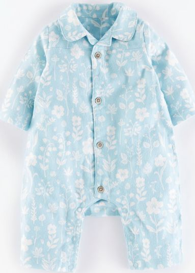 Mini Boden, 1669[^]35121060 Flannel All-in-one Powder Blue Flower Press Mini