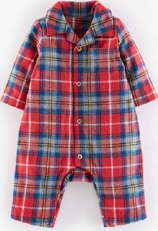 Mini Boden, 1669[^]35137207 Flannel All-in-one Red Check Mini Boden, Red