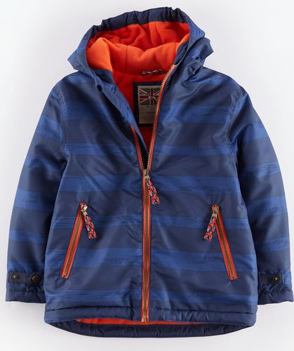 Mini Boden, 1669[^]34905992 Fleece Lined Anorak Navy/Reef Stripe Mini Boden,