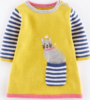 Mini Boden, 1669[^]34980375 Fun Pocket Knitted Baby Dress Fishermans