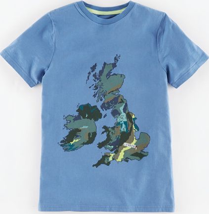Mini Boden, 1669[^]34930586 Graphic T-shirt Sail Blue/British Isles Mini