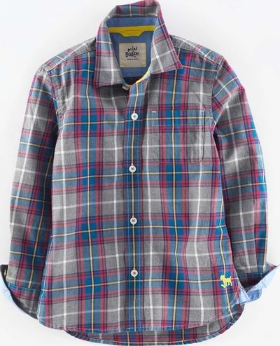 Mini Boden, 1669[^]34931709 Laundered Shirt Grey Mini Boden, Grey 34931709