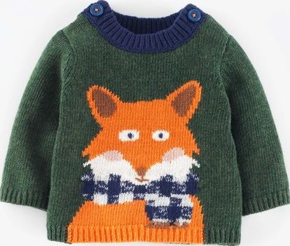 Mini Boden, 1669[^]34980243 Logo Jumper Nettle Marl/Fox Mini Boden, Nettle