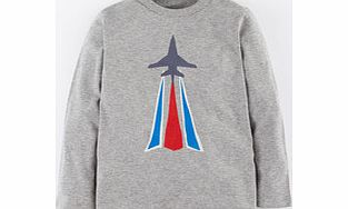 Mini Boden Logo T-shirt, Grey Marl Jet,Khaki Target,French product image