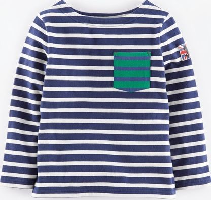 Mini Boden, 1669[^]34977215 Mariner T-shirt Navy/Ecru Mini Boden, Navy/Ecru