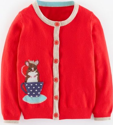 Mini Boden, 1669[^]35129444 Pet-in-a-pocket Cardigan Poppy Mouse Mini Boden,