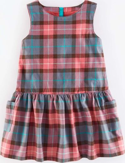 Mini Boden, 1669[^]35154616 Pinafore Check Dress Grey Mini Boden, Grey