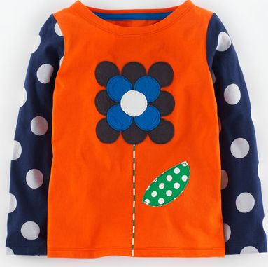 Mini Boden, 1669[^]34972745 Pop Art T-shirt Firework Big Flower Mini Boden,