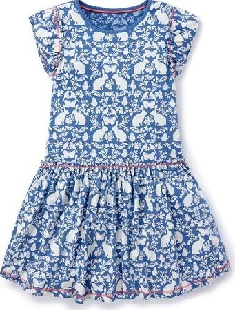 Mini Boden, 1669[^]35181726 Pretty Jersey Dress Regatta Blue Secret Garden