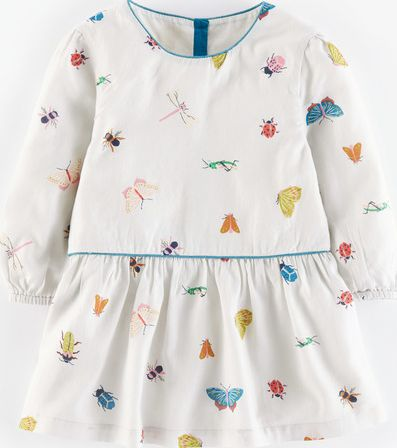Mini Boden, 1669[^]35145291 Pretty Printed Top Light Grey Beautiful Bugs