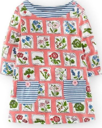 Mini Boden, 1669[^]34517110 Printed Tunic Pink Grapefruit Seed Packets Mini