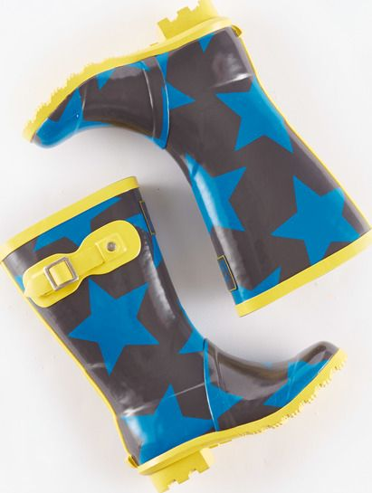 Mini Boden, 1669[^]34924654 Printed Wellies Storm/Cobalt Stars Mini Boden,
