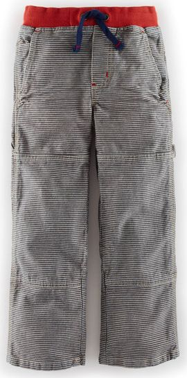 Mini Boden, 1669[^]34506832 Rib Waist Carpenters Slate Denim Ticking Mini