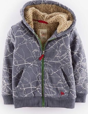 Mini Boden, 1669[^]34919639 Shaggy Lined Hoody Slate Maps Mini Boden, Slate