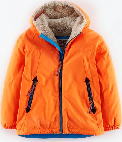 Mini Boden, 1669[^]34906487 Sherpa Lined Anorak Acid Orange Mini Boden, Acid