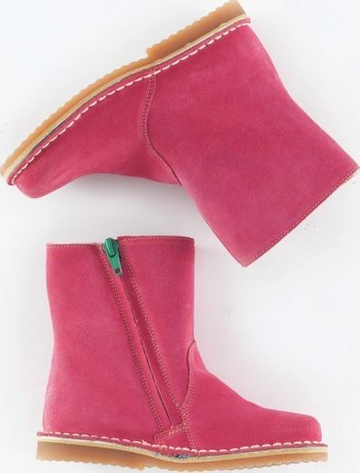 Mini Boden, 1669[^]34927467 Short Leather Boots Light Rose Suede Mini Boden,