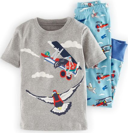 Mini Boden, 1669[^]34608034 Short Sleeve Long Johns Surf Flying Ducks Mini