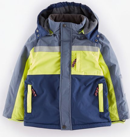 Mini Boden, 1669[^]34907337 Snow Jacket Navy/Acid Yellow Mini Boden,