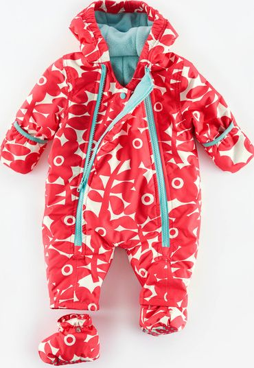Mini Boden, 1669[^]34959429 Snowsuit Washed Red Flower Stamp Mini Boden,