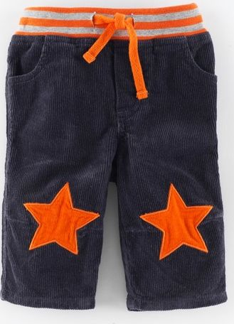 Mini Boden, 1669[^]34961466 Star Patch Cord Trousers Thunder/Satsuma Stars