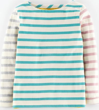 Mini Boden, 1669[^]34971838 Stripy Jersey T-shirt Vintage Blue Stripe Mini