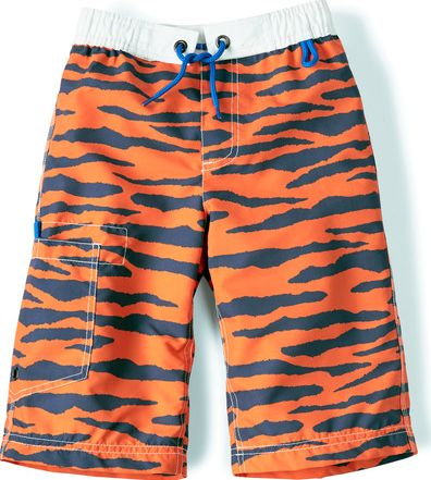 Mini Boden, 1669[^]34733220 Surf Shorts Tiger Print Mini Boden, Tiger Print