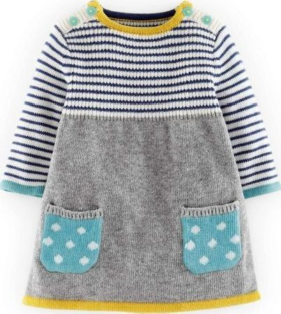 Mini Boden, 1669[^]34545384 Sweet Knitted Dress Grey Mini Boden, Grey 34545384