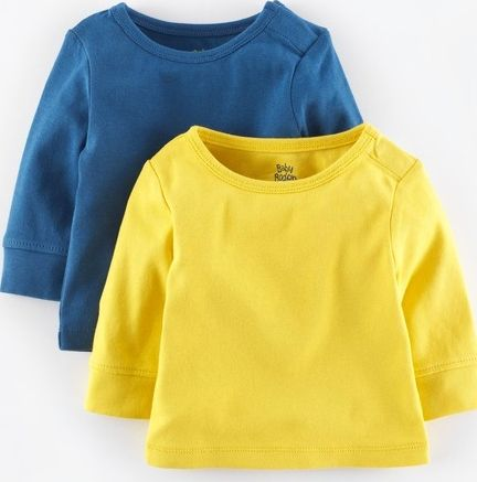 Mini Boden, 1669[^]34960807 Twin Pack Essential T-shirt Yellow/Coastal Blue