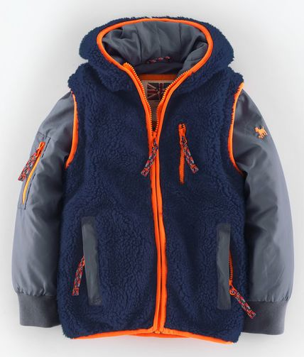 Mini Boden, 1669[^]34909101 Two-in-one Explorers Jacket Navy Sherpa/Slate