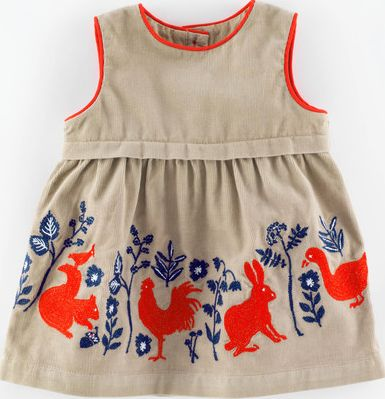 Mini Boden, 1669[^]34987636 Woodland Animal Cord Baby Pinnie Oat/Animal