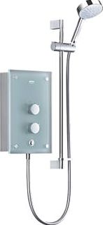 Mira, 1228[^]1338G Azora Electric Shower Frosted Glass 9.8kW