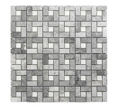 Grey Mosaic Cross Hatch