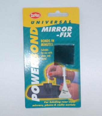 Windscreen Mirror Bonder Solves the problem of your rearview mirror falling off. The pack contains a - CLICK FOR MORE INFORMATION