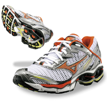 into the differences between mens and womens gait. Mizuno constructs