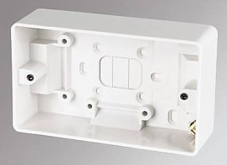 MK, 1228[^]16168 2-Gang Surface Pattress Box White 30mm 16168