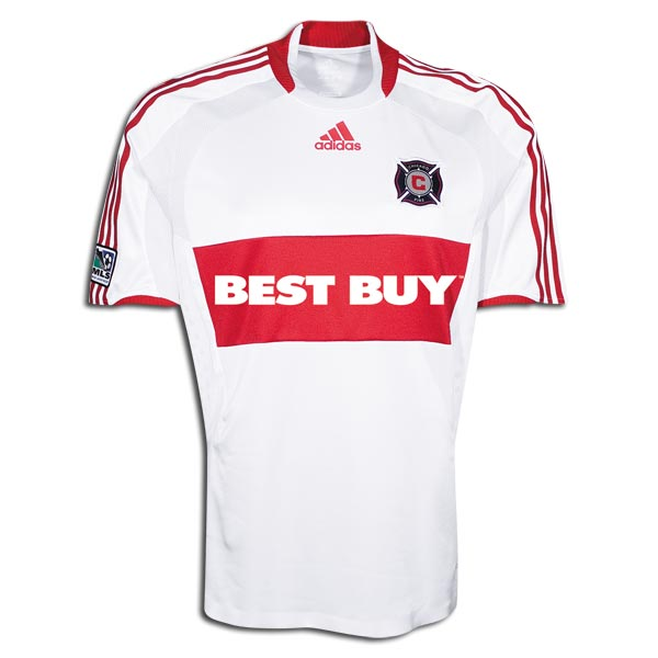 Chicago Fire 2009 Away Soccer Jersey.