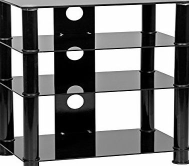 MMT Furniture Designs MMT LHFBLK650 - 4 Shelf Hi Fi stand - Hi Fi rack -