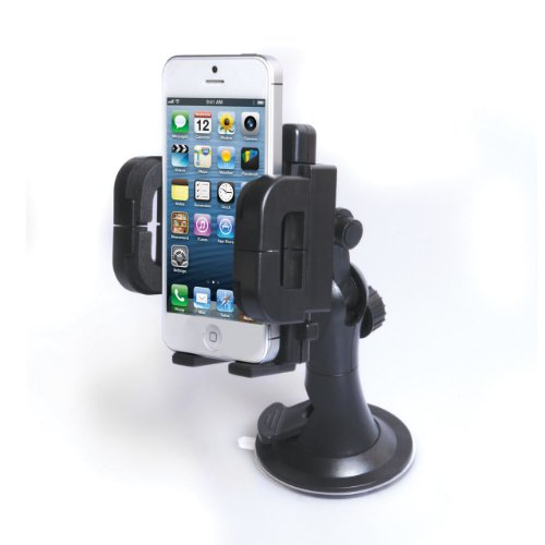 Black In Car Mobile Phone and PDA Holder (Universal Suction) Accessory (by Mobi Lock®)