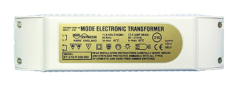 Electronic Transformer 24 Volt, 50 to 210 VA