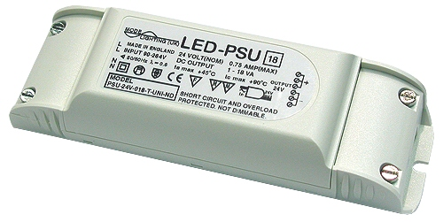 LED Power Supply 230V to 24V D.C.
