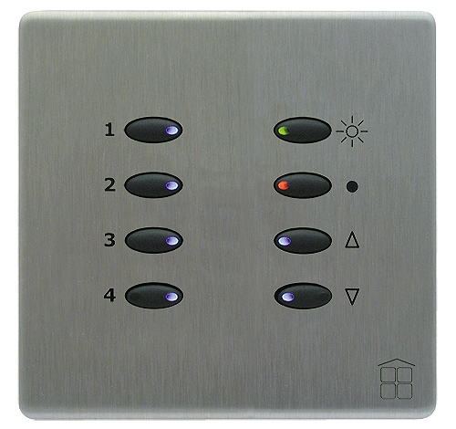 SceneStyle2 Brushed Stainless Finish - Black Buttons