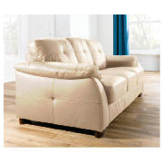 Modena leather sofa large, cream product image